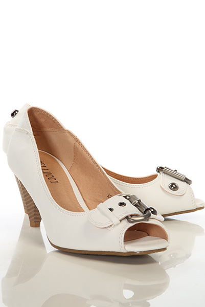 Buckle Strap Peep Toe Shoes