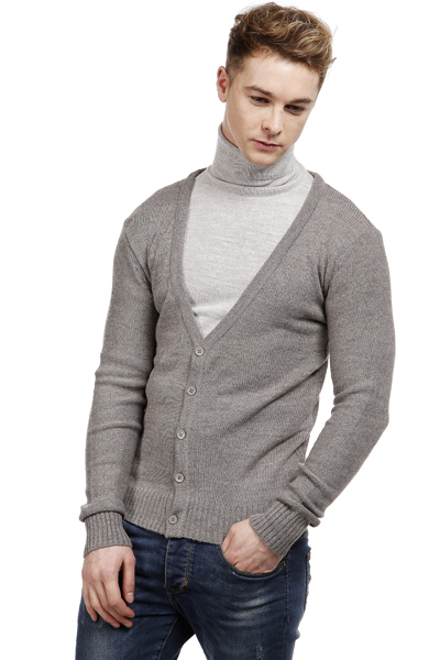 V-Neck Knitted Cardigan