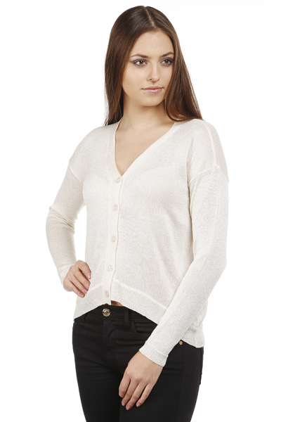 Lurex V-Neck Cardigan