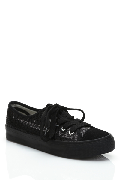 Sequined Lace Up Shoes
