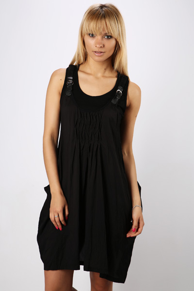 Buckle Shoulder Dress