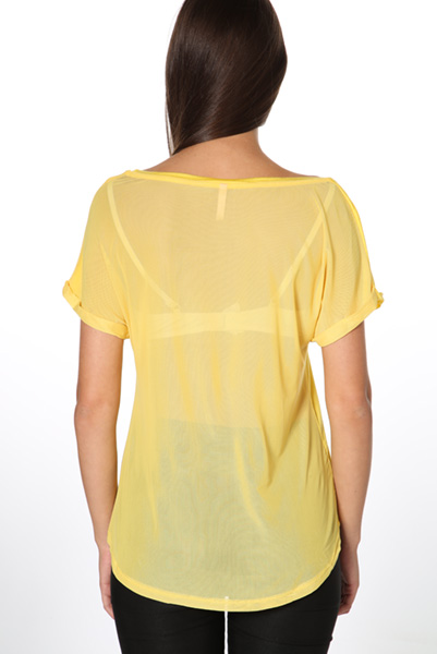Mesh Back & Printed Front T-Shirt