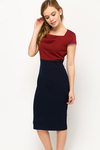 Two Tone Office Dress