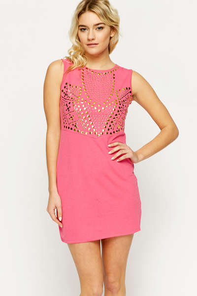 Studded Bodice Bodycon Dress
