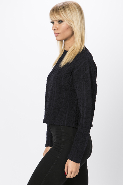 Textured Patterned Pullover