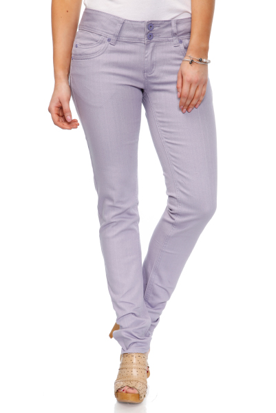 Wide Waistband Lilac Jeans
