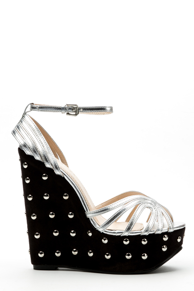 90d39cbfb9e Studded Wedge Sandal Heels - Just £5
