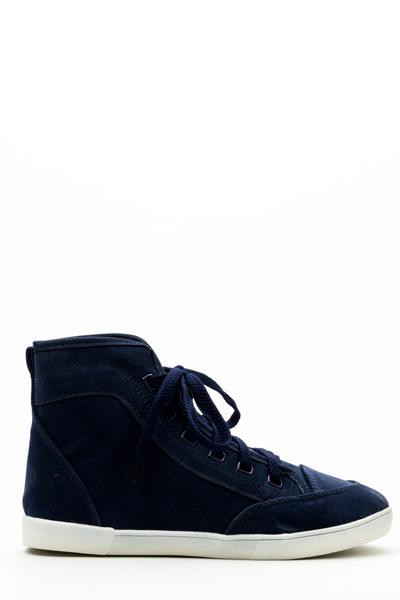 Velour Hi-Top Shoes