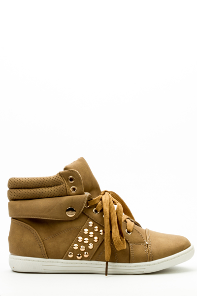 Padded Hi-Top Studded Shoes