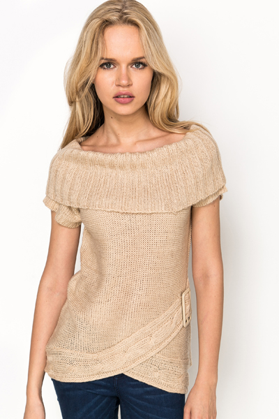Buckle Side Knit Tunic
