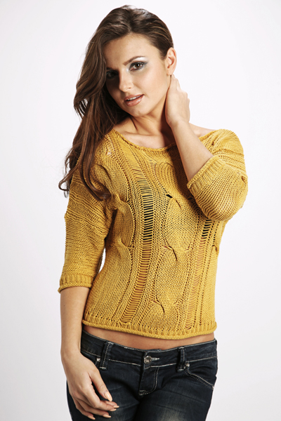 Distressed Pattern Knit Pullover