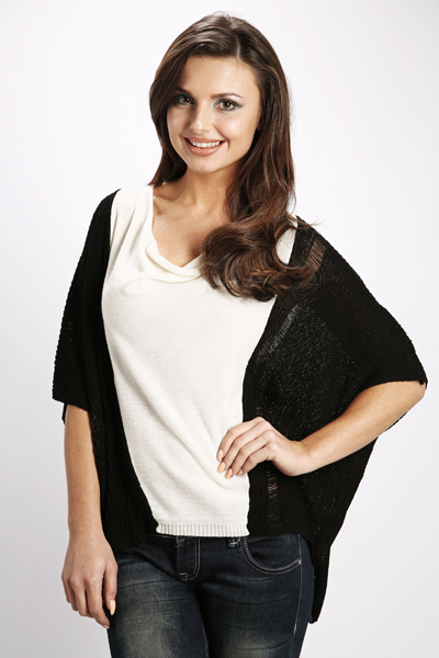 Colour Block Batwing Top