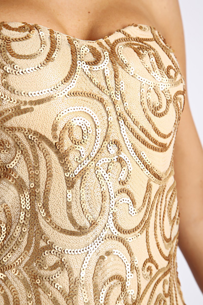 Sequin Bandeau Party Dress