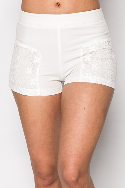 Lace Panel Side Shorts