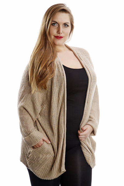Loose Knit Slouchy Open Front Cardigan