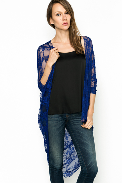 Lace Overlay Cardigan