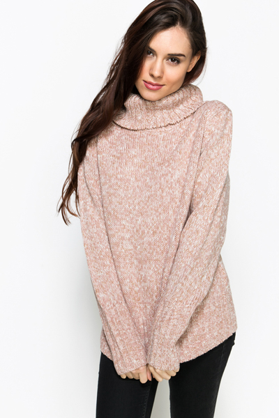 Chunky Roll Neck Jumper