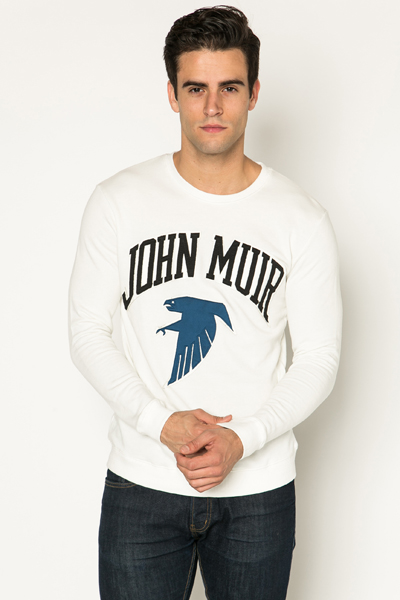 Large Slogan Print Sweatshirt
