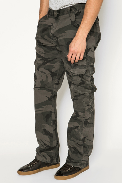 Camouflage Pocket Detail Trousers