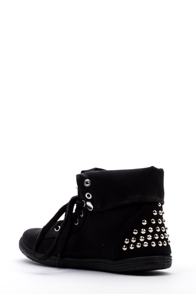 Stud Trim Lace Up Shoes