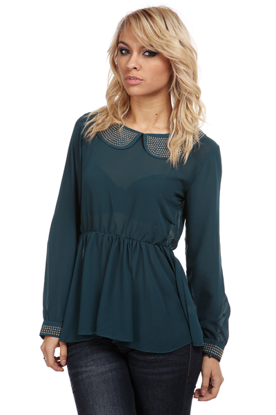 Studded Collar & Cuffs Tunic