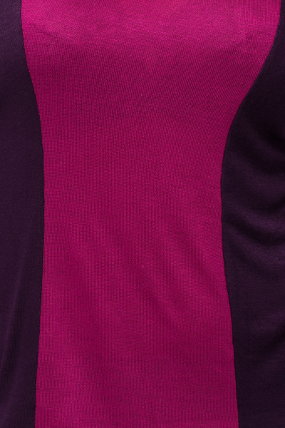Colour Block V-Neck Tunic