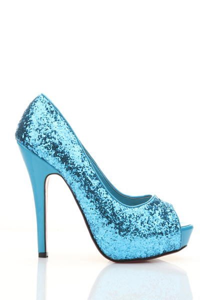 Glitter Peep Toe Heel Shoes