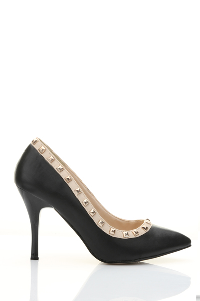 Studded Trim Court Shoes