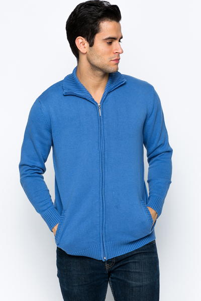 Contrast Elbow Patch Zip Jacket