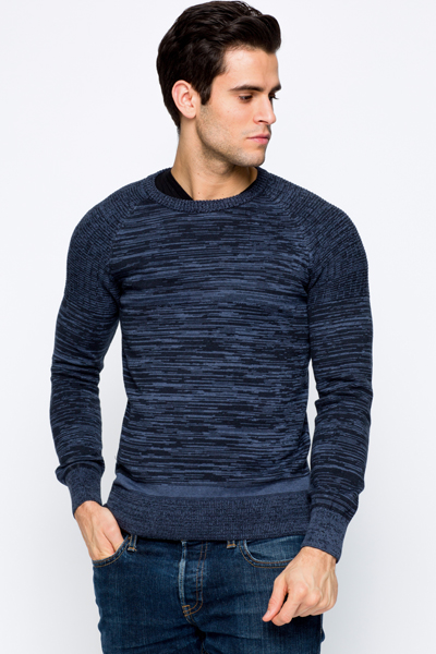 Contrast Knit Sweater
