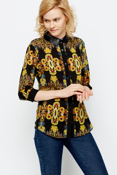 Jewel Print Shirt