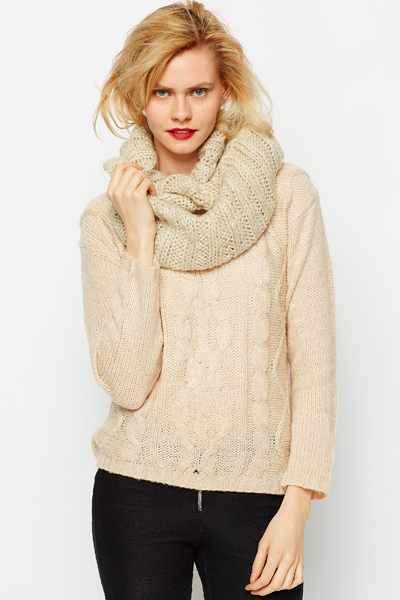 Metallic Knit Snood