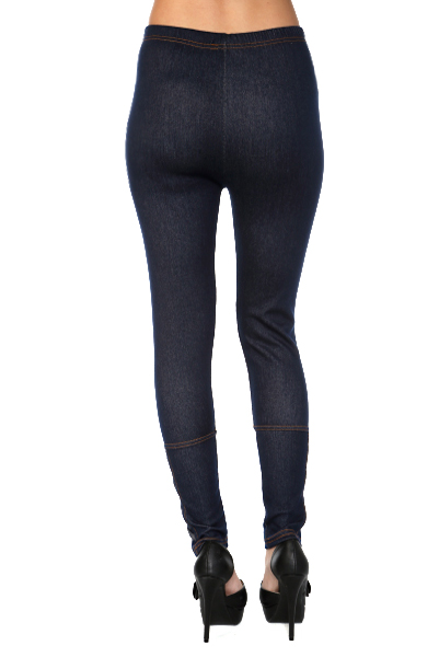 Crossed Button Tabs Jeggings
