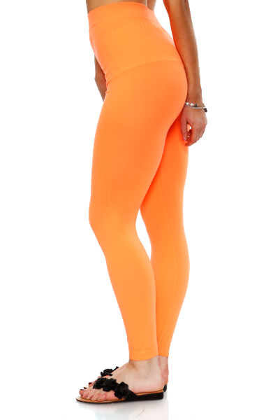 Neon Coloured Footless Tights