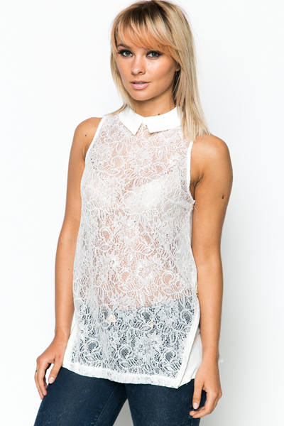 Zip Side Lace Tunic