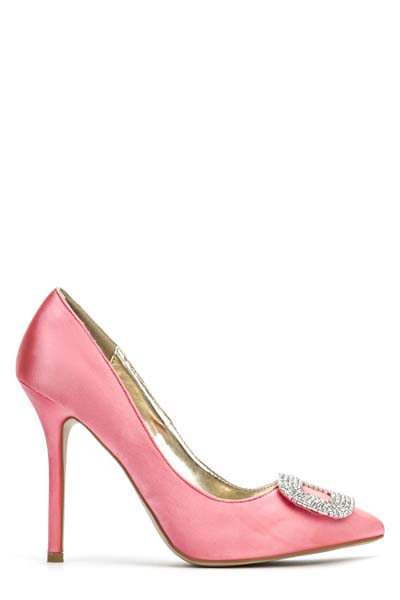 Diamante Encrusted Frame Court Shoes