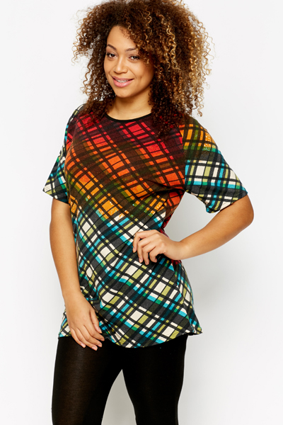 Multi Check Tunic