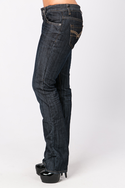 Creased Effect Denim Jeans