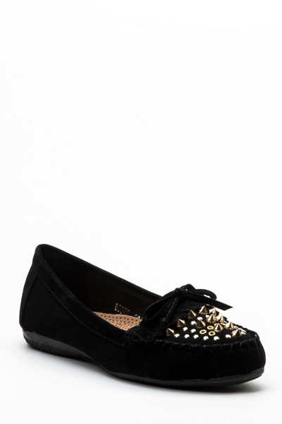 Studded Slip On Loafers