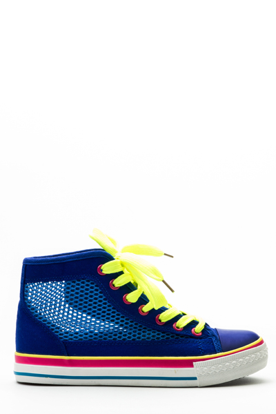 Colour Block Mesh Trainers