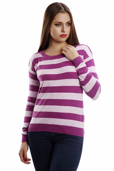 Colourful Stripes Knitted Pullover