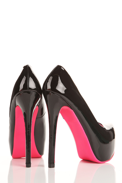 Contrast Piping Platform Shoes