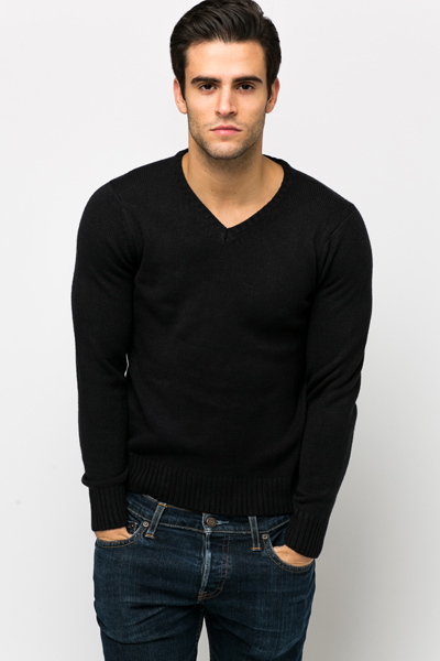 V-Neck Soft Knit Pullover