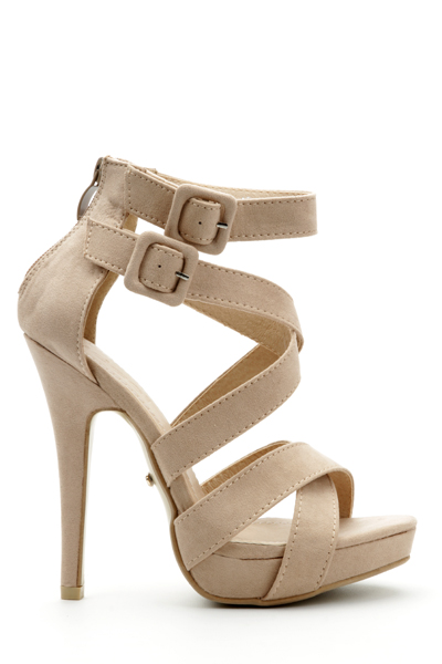 Buckle Strap Hi-Heel Sandals