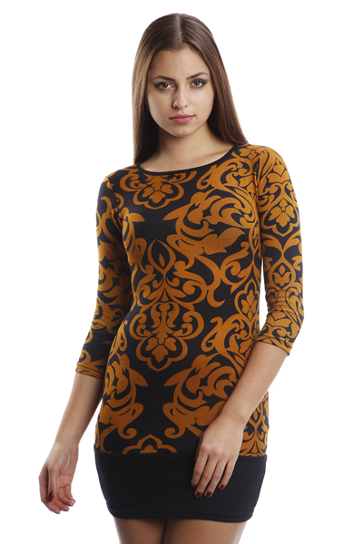 Tapestry Print Woollen Dress