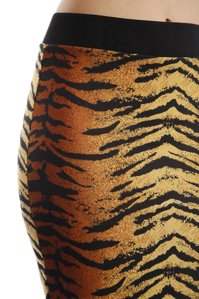 Tiger Print Pencil Skirt