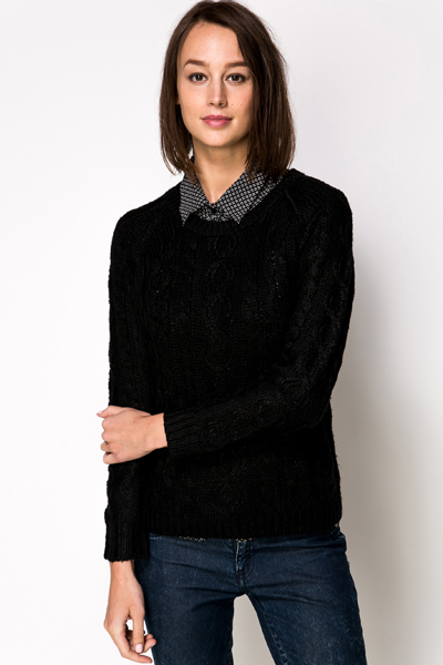 Cable Knit Basic Pullover