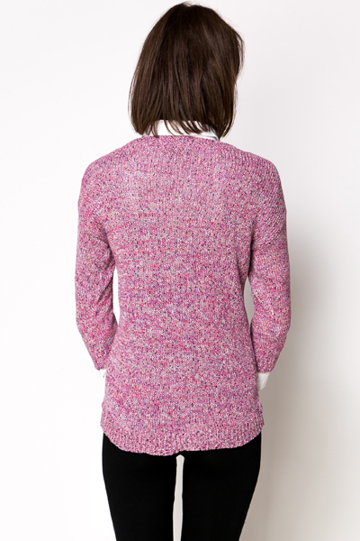 Multi Speckle Knit Pullover