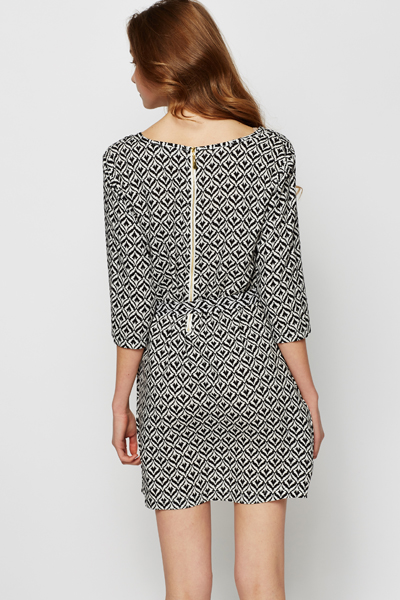 Mono Ornate Tie-Up Dress