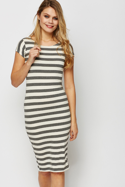 53eac3ca4c8 Stripe Bodycon Midi Dress - Just £5